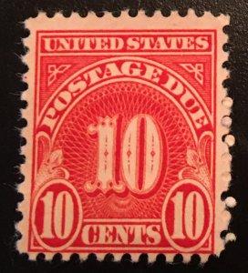 J84 a, Postage Due 10c, 11 x 10 1/2 perf., single, Vic's Stamp Stash