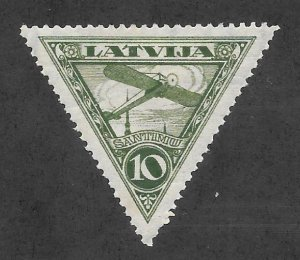Latvia Scott #C3 Mint 10s Bieriot air mail stamp 2017 CV $4.50