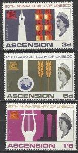 Ascension  112-4  MNH  UNESCO 20th Anniversary