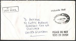 SOLOMON IS 1991 cover to UK POSTAGE PAID HONIARA...........................75642