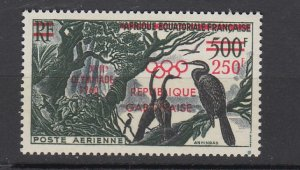 J25833  jlstamps 1960 gabon mnh set of 1 #c3 ovpt,s