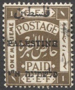 PALESTINE British Military Occupation 1921 Sc 15c 1m MH F-VF, cv $21