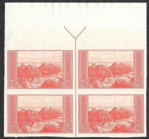Doyle's_Stamps: MNH Set Nat. Parks Special Printing UM Guideline Arrow Blocks