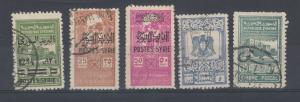 Syria 1945 Postal Fiscal O/P SG410/417 VFU J4954