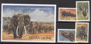 Sierra Leone Scott 586-90 Mint NH (Catalog Value $24.60)