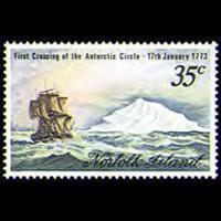 NORFOLK IS. 1973 - Scott# 152 Capt.Cook Set of 1 NH