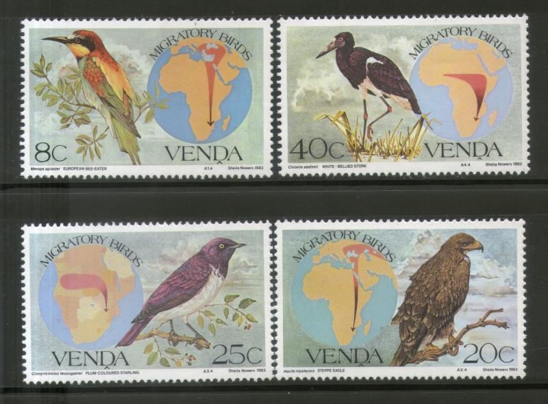 Venda MNH 100-3 Migratory Birds 1983