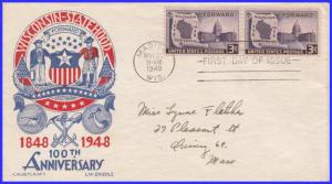 US FDC #957 M1 3c Wisconsin ~ Cachet Craft - Staehle (6302)
