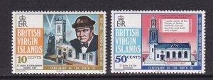 Birtish Virgin Islands   #278-279  MNH  1974  Churchill