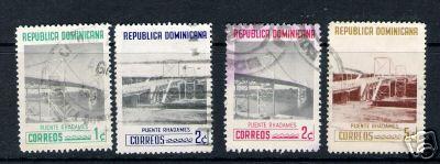 A393 DOMINICAN REP. DOMINICANA 518-521 VFU BRIDGES