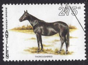 Netherlands Antilles  #776 1996 used  horses   275 ct