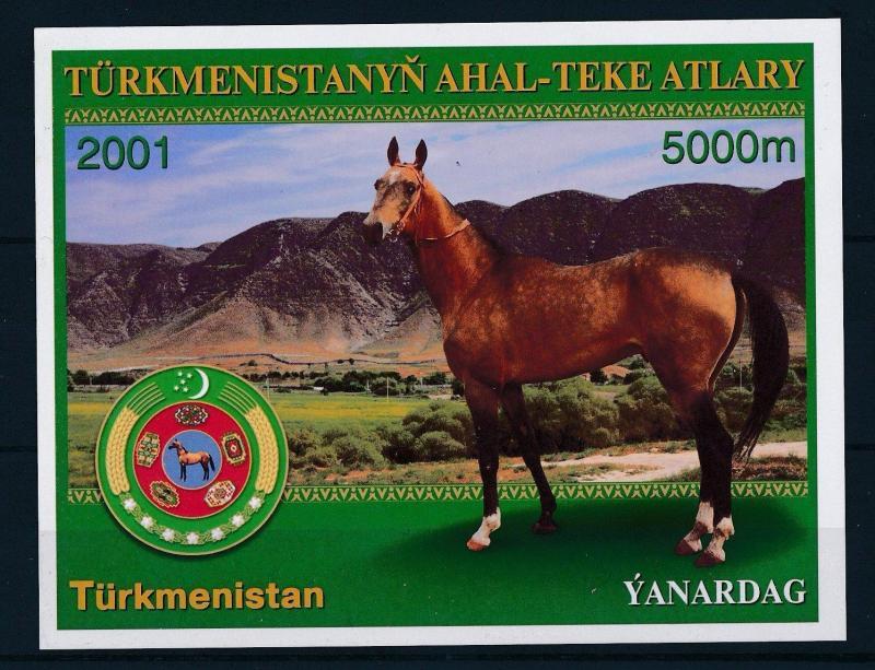 [27472] Turkmenistan 2001 Animals Horses MNH Sheet