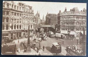 1929 London England RPPC Postcard Cover To Prague Czechoslovakia