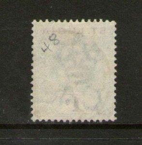 St Lucia 1902 KEVII 1/- SG 62 or Sc 48 FU