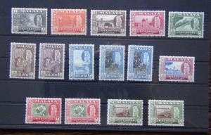 Malaya Kelantan 1957 - 1963 set to $5 x 2 with all perf varieties LMM