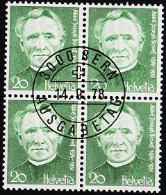 Switzerland. 1978 20c(Block of 4). S.G.959 Fine Used