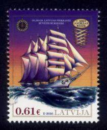Latvia Sc# 947 MNH Barquentine Andreas Weide