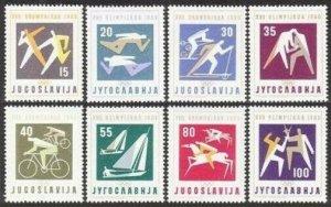 Yugoslavia 564-571,MNH.Michel 909-916. Olympics Rome-1960.Yachting,Fencing,