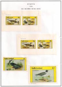 SCOTLAND - STAFFA - 1982 - Birds #13 - Perf, Imp 2v, Souv, D/L Sheets - MLH