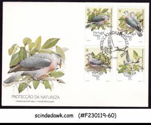 PORTUGAL MADEIRA -1991 NATURE / BIRDS DOVE - FDC