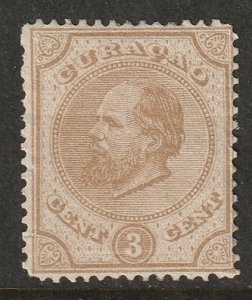 Netherlands Antilles 1873 Sc 2b MH* small thins