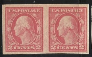 482  2c Pair  MHR F/VF Centering Small pencil note