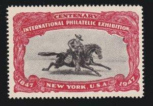 US 1947 International Philatelic Exhibition Cinderella Stamp Mint OG NH