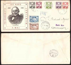 Greenland, 1840 Stamp Centenary registered cover     -BN51