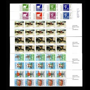 Lot of 48 Norway MNH Mint Stamps in Booklets Scott Range 733a - 853a #145842 R