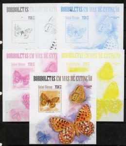 Guinea - Bissau 2013 Butterflies #06 m/sheet - the set of...