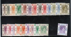 Hong Kong #154s - #166as (SG #140s - #162s) Mint Fine - Very Fine Perforated Spc
