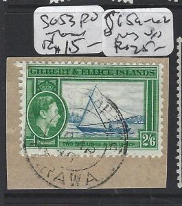 GILBERT AND ELLICE ISLANDS (P1804B)  KGVI  2/6 SG 53 PIECE TARAWA   VFU