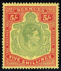 Bermuda #125a King George VI; MNH (4Stars)