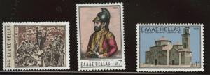 GREECE Scott 1136-1138  MNH** 1975 uprising against the Turks set