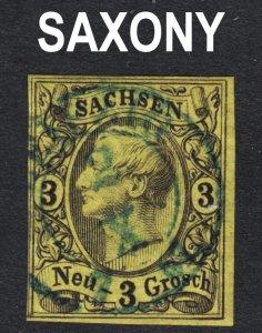 Germany Saxony Scott 12 VF used.