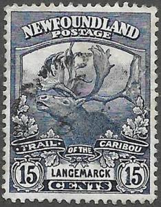Newfoundland Scott Number 124 VF Used