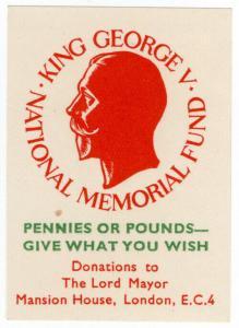 (I.B) Cinderella Collection : King George V Memorial Fund