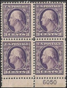 376 Mint,OG,NH... Block of 4... SCV $160.00... 3 mm... Plate# single