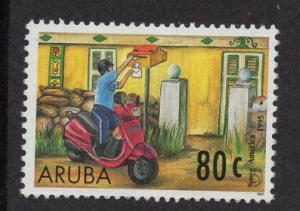 Aruba   #146   used  1997  America issue mailman  80c