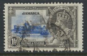 Jamaica SG 115 Used spacefiller SC# 110    Silver Jubilee  see details