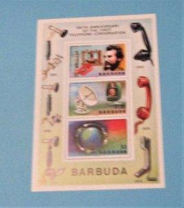 Barbuda - 262a, MNH S/S. Telephone Centenary. SCV - $2.00