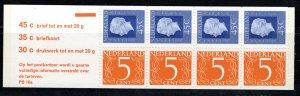 Netherlands Scott # 463a, mint nh, cpl. stamp booklet, se-tenant
