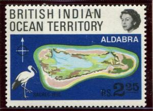 BIOT SC# 34 (SG # 31) Aldabra Atoll & sacred Ibis, 2.35r, NH