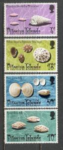 PITCAIRN ISLAND Sc# 137 - 140 MNH FVF Set of 4 Sea Shells