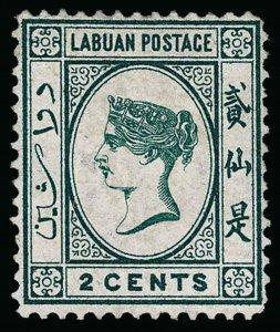 Labuan Scott 1 Gibbons 1 Mint Stamp