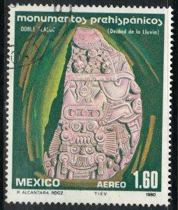 MEXICO C625 Pre-Hispanic Monuments - Tlaloc. Used. VF. (1203)