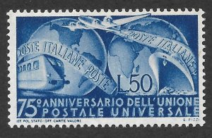 Doyle's_Stamps: MNH Nice 1949 Italian UPU Issue, Scott #514**