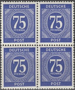 Stamp Germany SC 0553 Block 1946 Post WWII 75PF MNH