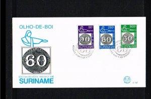 1993 - Rep. Surinam FDC E167 - Exhibitions - Philatelic exhibition - Brasilia...