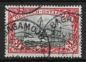 GERMAN EAST AFRICA SG25 1901 3r BLUE-BLACK & RED USED